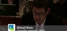 Intervention de Mickaël Marie en plénière du Conseil régional sur la fusion des régions normandes.